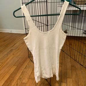 Express Tops - White Sequin tank top